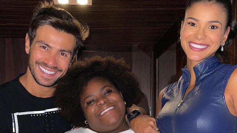 """Mariano, Jojo Todynho e Jake Oliveira se reencontram semanas após a final de """"A Fazenda 12"""""""