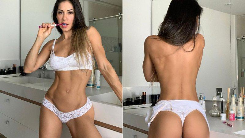 Cenapop · Mayra Cardi sensualiza de calcinha no banheiro e manda ...
