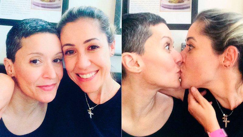 """Ex-Trem da Alegria, Patricia Marx mostra beijo na mulher e se declara: """"Apaixonada por você"""""""
