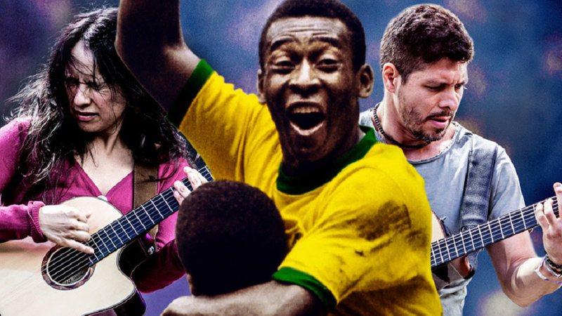 Pelé regrava música de sua autoria ao lado de dupla vencedora do Grammy
