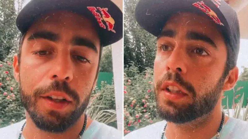 Surfista compartilhou vários vídeos através do Stories