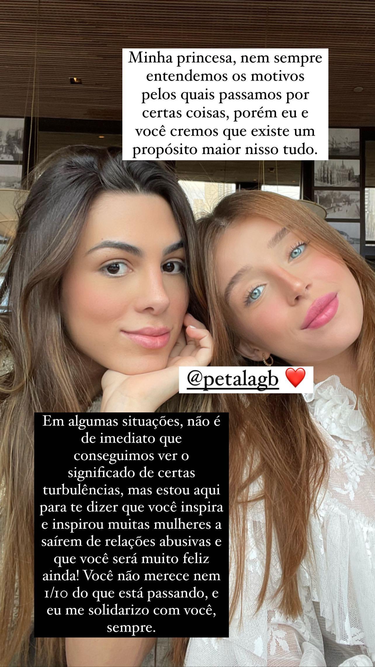 Duda Reis homenageia Pétala Barreiros - Foto: Reprodução/Instagram