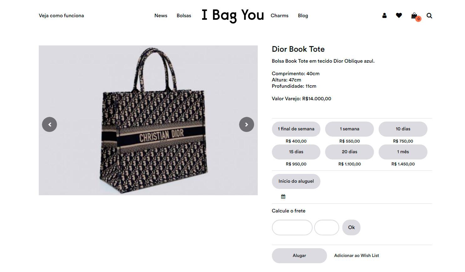 Bolsa Book Tote da Dior é queridinha das famosas