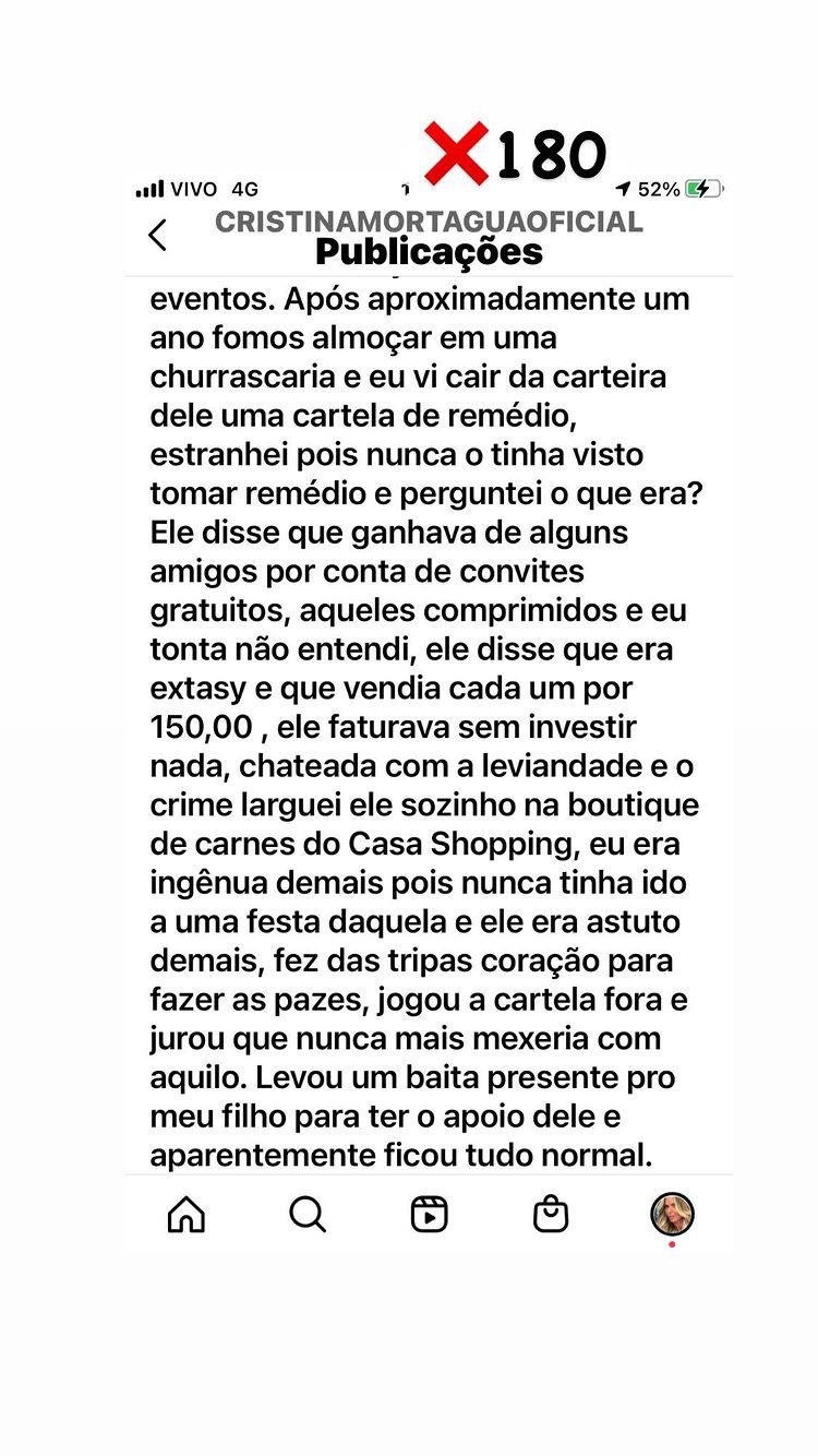Cristina Mortágua postou trecho de livro na web