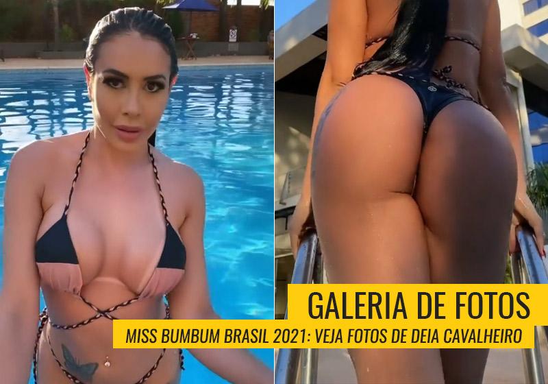 Deia Cavalheiro foi Miss Bumbum Mato Grosso do Sul