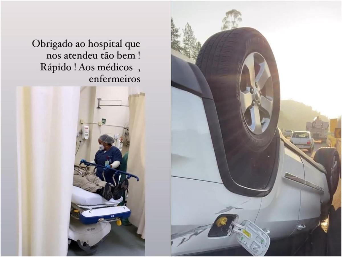 Giovani e a esposa sofreram acidente em Arujá, São Paulo