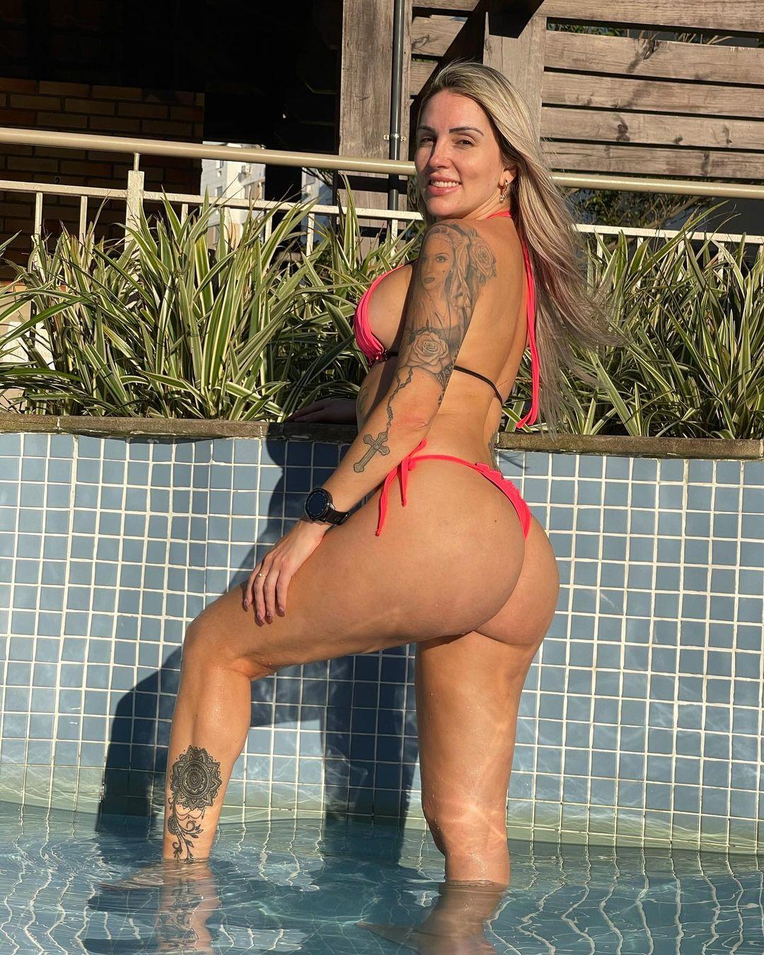 Luanda Fraga é ex-atriz de pegadinhas e já participou do Miss Bumbum