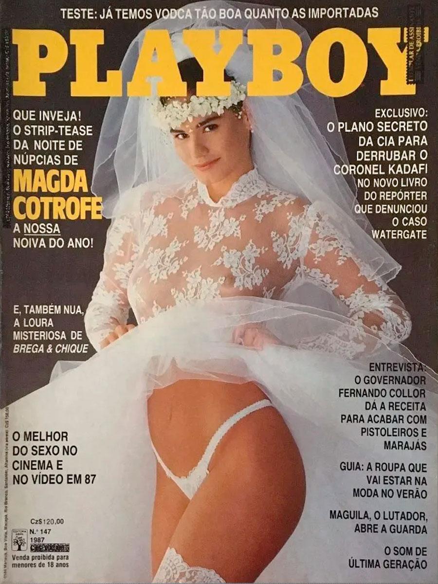 Magda Cotrofe na capa da Playboy de outubro de 1987