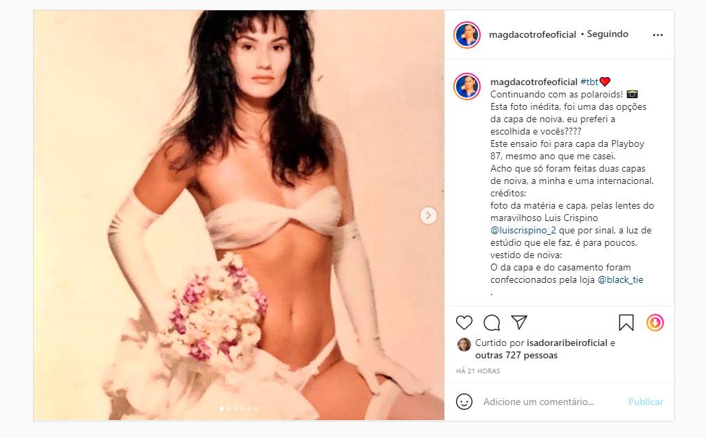 Magda Cotrofe em foto inédita feita nos bastidores de sua Playboy em 1987