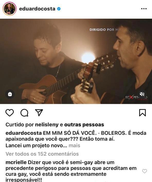 MC Rielle falou sobre declaração de Eduardo Costas