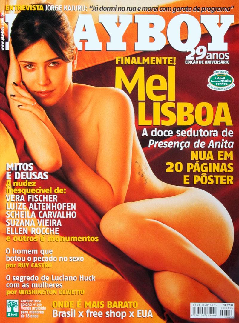 Mel Lisboa estampou a capa da edição de aniversário da Playboy