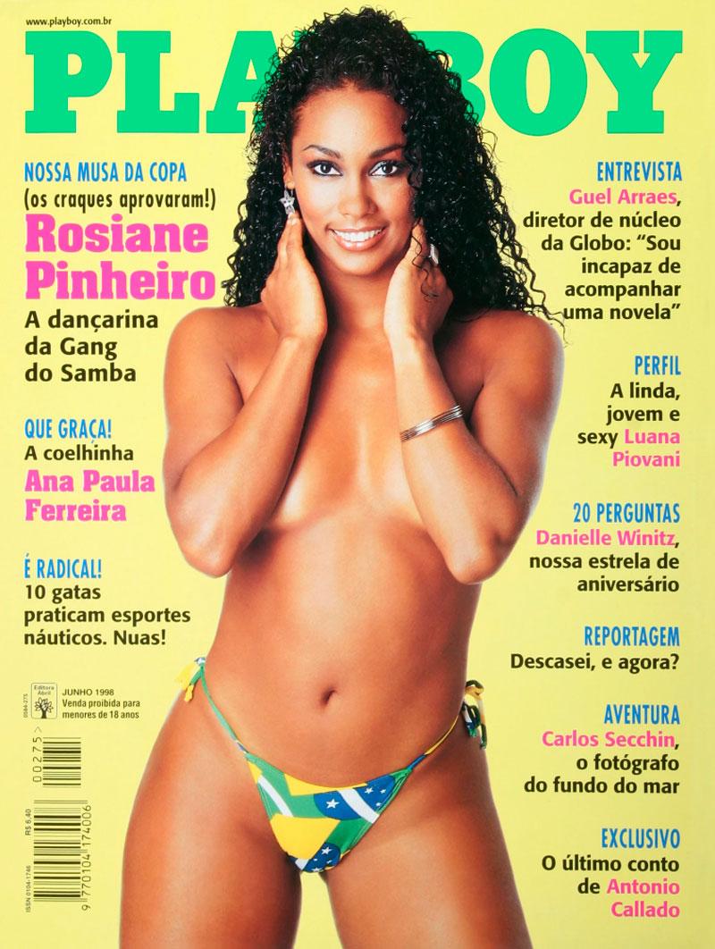 Rosiane Pinheiro na capa da Playboy de junho de 1998