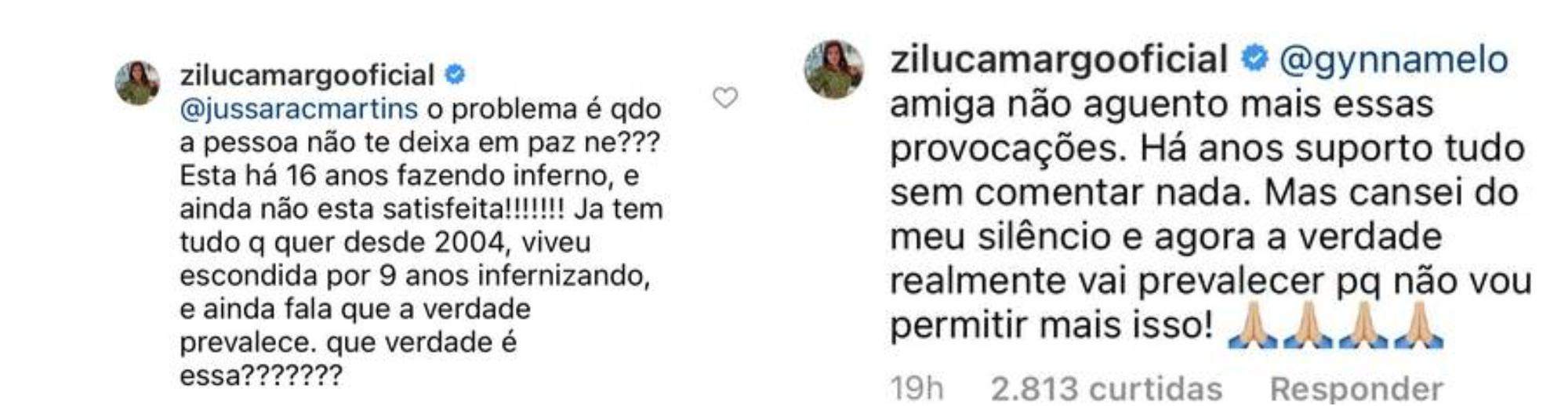 Zilu Godói e Graciele Lacerda trocam farpas pelas redes sociais.